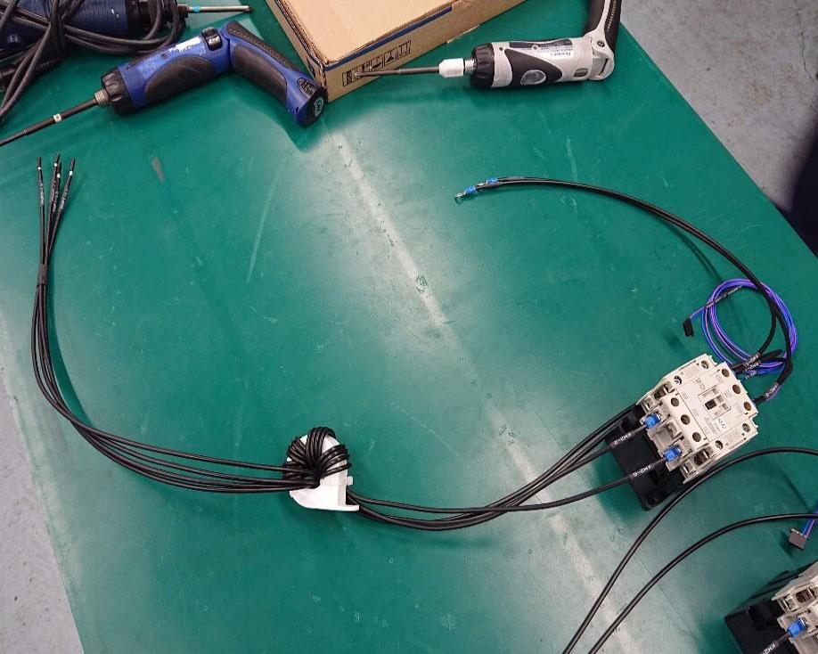 制御盤用コイル巻きハーネスASSY